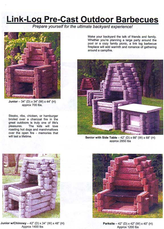 Link-Log Outdoor Fireplaces & Barbecues